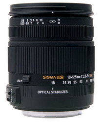 Sigma 18-125mm f/3.8-5.6 DC OS HSM zoom lens