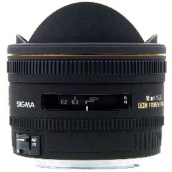 Sigma f2.8 10mm fisheye lens