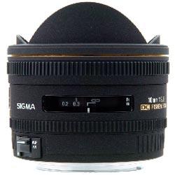 Sigma f2.8 10mm fisheye lens