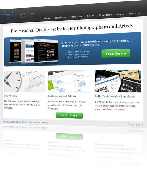 foliopic websites for photographers