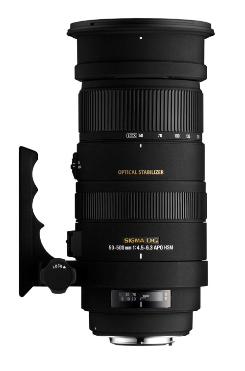 Sigma 50-500mm f/5-6.3 DG OS HSM lens