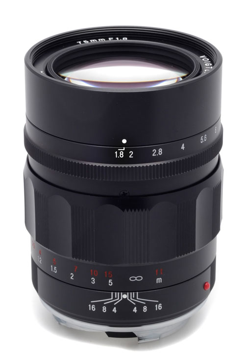 Voigtlander 75mm f/1.8 Heliar Classic Lens