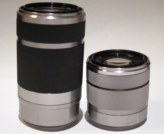 55-210mm and 18-55mm
