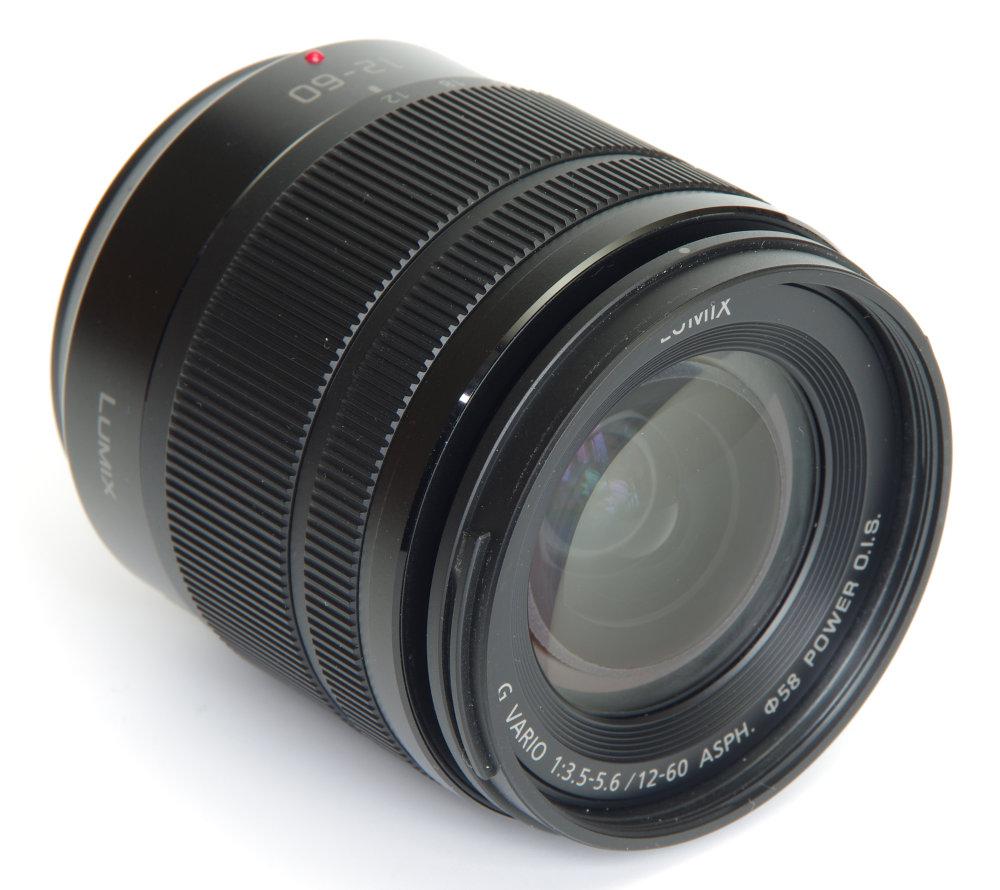 Lumix 12 60mm Front Oblique View