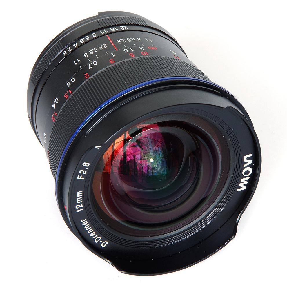 Laowa 12mm F2,8 Front Oblique View