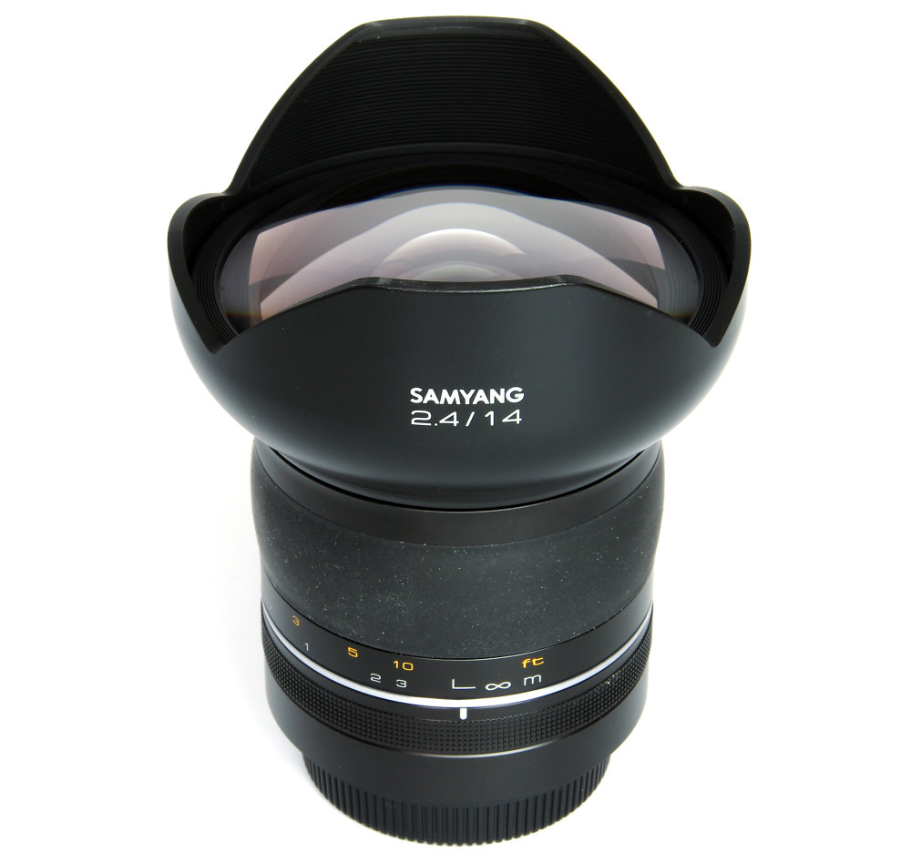 Samyang 14mm F2,4 Vertical View