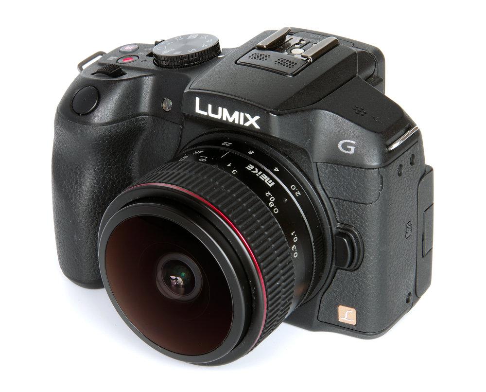 Meike 6,5mm F2 Fisheye On Lumix G6