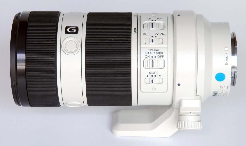 Sony Fe G 70 200mm F4 Side View