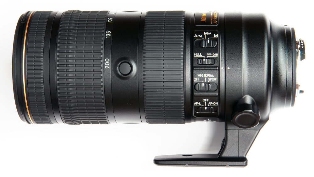 Nikkor 70 200mm F2,8 Fl Ed Vr Side View