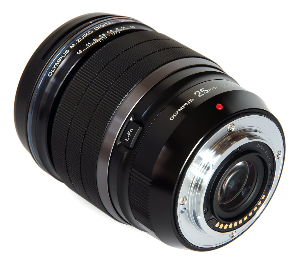 Olympus 25mm F1,2 Rear Oblique View