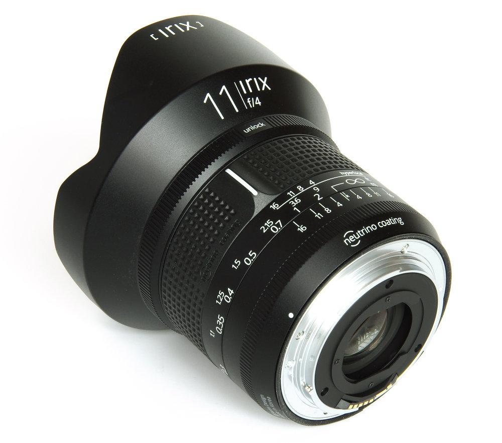 Irix 11mm F4 Firefly Rear Oblique View