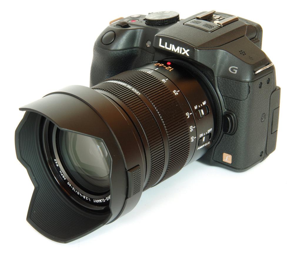 Leica Vario Elmarit 12 60mm With Hood On Lumix G6