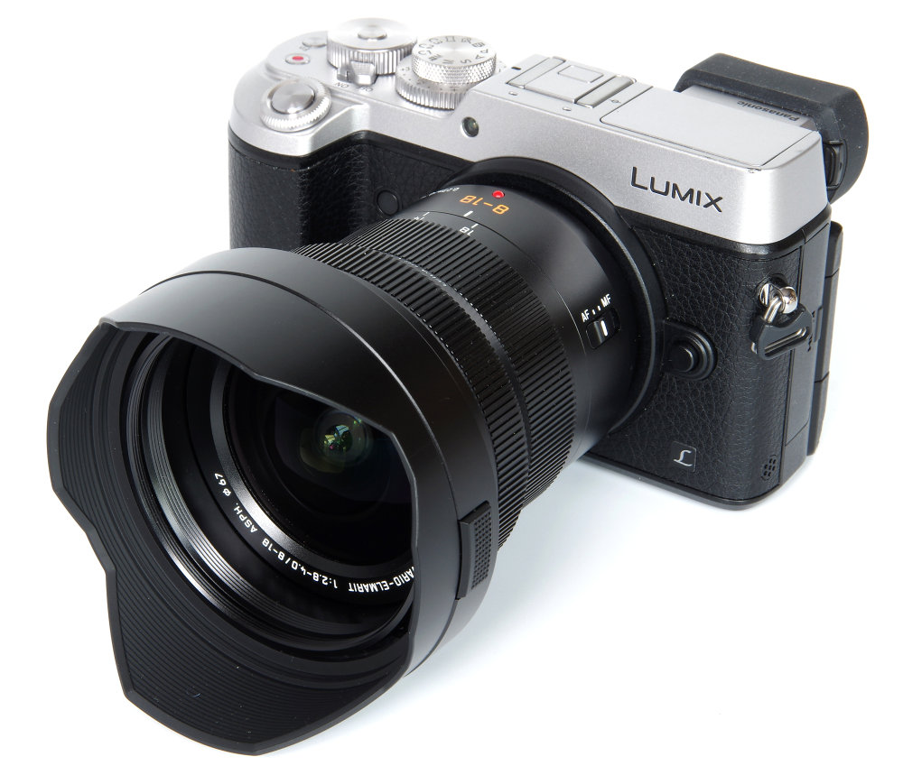 Panasonic Leica 8 18mm With Hood On Gx8