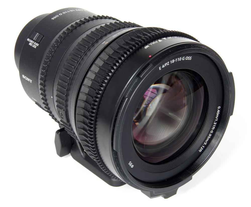 Sony E Pz 18 110mm F4 Front Oblique View