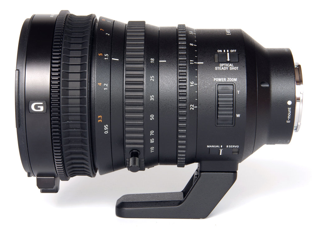 Sony E Pz 18 110mm F4 Left Side View