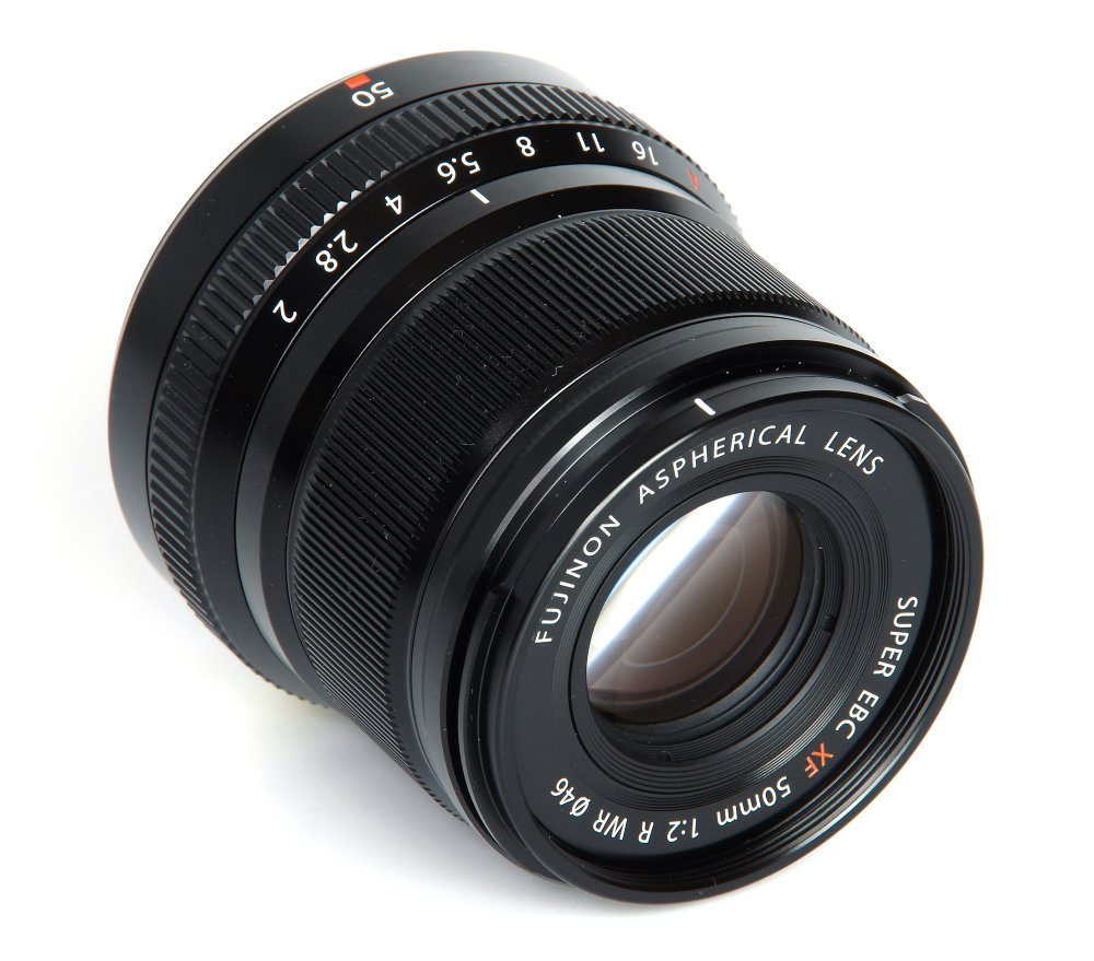 Fujinon Xf 50mm F2 Front Oblique View