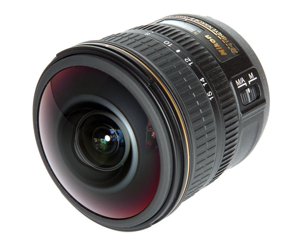 Nikkor 8 15mm Front Oblique View