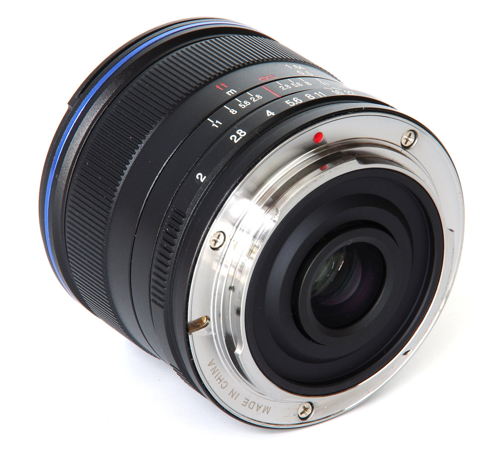 Laowa 7,5mm F2 Rear Oblique View