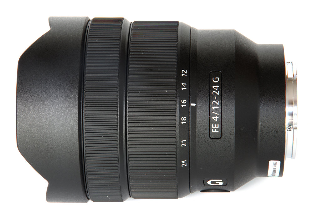 Sony Fe 12 24mm F4 Top View