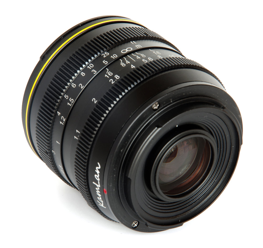 Kamlan 50mm F1,1 Rear Oblique View