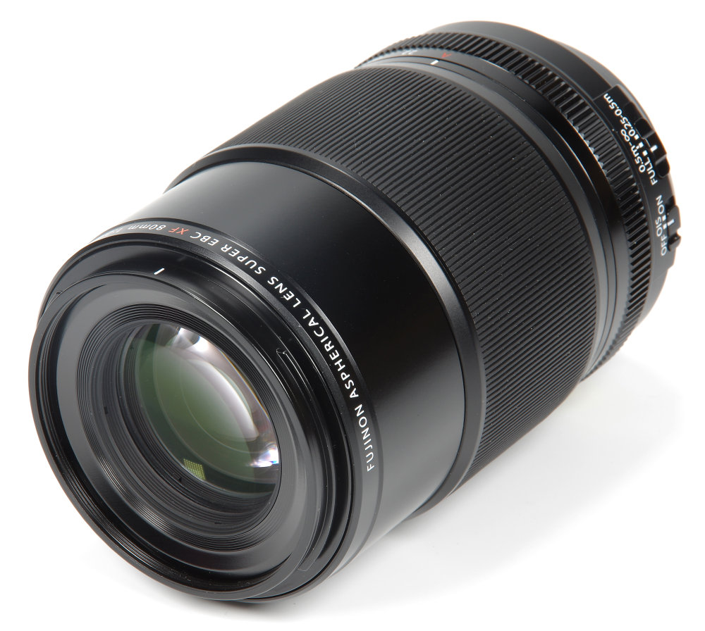 Fujinon 80mm F2,8 Macro Front Oblique View