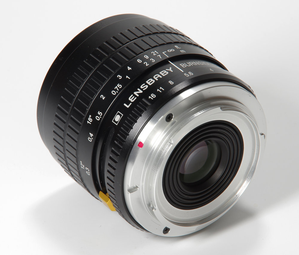 Lensbaby Burnside 35mm F2,8 Rear Oblique View