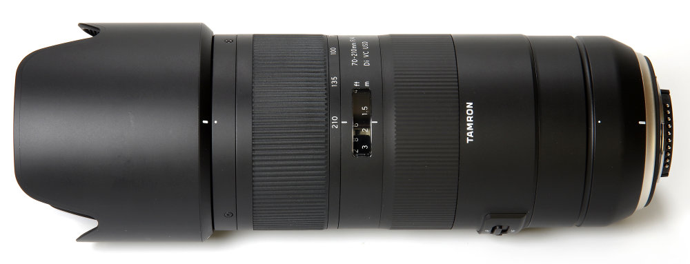 Tamron 70 210mm F4 Top View With Hood